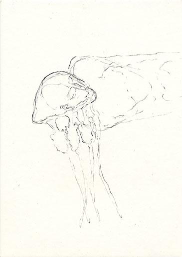 Quallenmann, 1998, Bleistift, 14.8 x 10.5 cm - Wolfgang Stiller