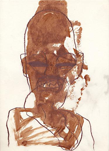 Neger, 1995, Mischtechnik, 29.5 x 21 cm - Wolfgang Stiller