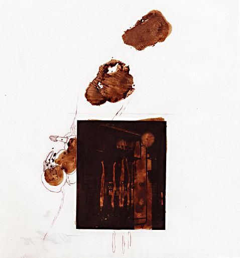 ohne Titel, 1996, Mischtechnik, ca 20 x 21 cm - Wolfgang Stiller