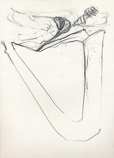 ohne Titel, 1988, Bleistift, 29.5 x 21 cm - Wolfgang Stiller