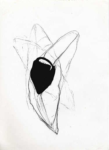 Lungenkorb, 1996, Mischtechnik, 14,8 x 10,5cm - Wolfgang Stiller