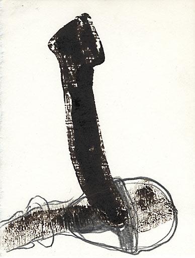 ohne Titel, 1996, Mischtechnik, 14,8 x 10,5cm - Wolfgang Stiller