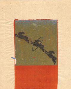 Tribute to the hereafter 1996 - 2010 Tusche und Goldlack auf chinesischem Opferpapier - Wolfgang Stiller