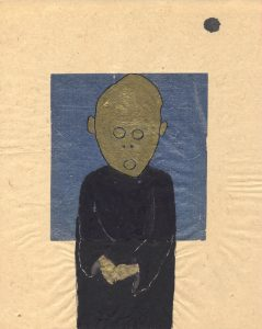 Tribute to the hereafter, 1996 - 2010 - Padre - Tusche und Goldlack auf chinesischem Opferpapier - Wolfgang Stiller