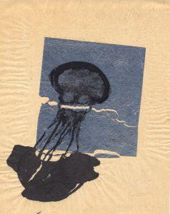 Tribute to the hereafter, 1996 - 2010 - Qualle -  Tusche und Goldlack auf chinesischem Opferpapier - Wolfgang Stiller