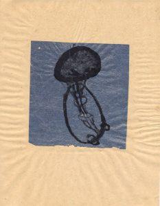 Quallen 2 2009, Kreide, Acrylfarbe auf Papier, 42 x 60 cm - Wolfgang Stiller