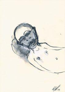 Mann-mit-Kopfkissen - Wolfgang Stiller
