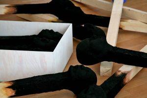 matchstickmeninstallation 2008 Detail Material : Holz. Hartschaum, Acrylfarbe - Wolfgang Stiller