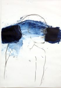 Indigo series,2019 acrylic paint on paper size 42 cm x 29,7 cm  - Wolfgang Stiller