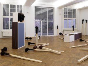 Matchstickmen 2010 Material : Holz. Hartschaum, Acrylfarbe - Wolfgang Stiller